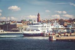 Puerto de transbordador de Helsingborg imagen de archivo
