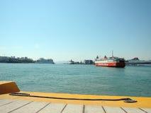 Puerto de transbordador en Atenas Fotografía de archivo libre de regalías