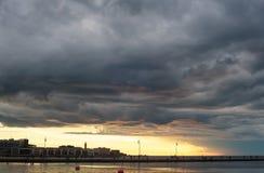 Puerto de Trieste Imágenes de archivo libres de regalías