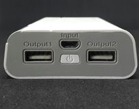 Puerto de USB Fotografía de archivo