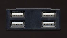 Puerto de USB para la PC Fotografía de archivo libre de regalías