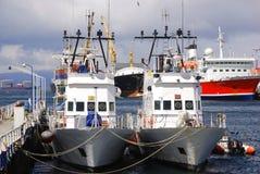 Puerto de Ushuaia Imagen de archivo libre de regalías