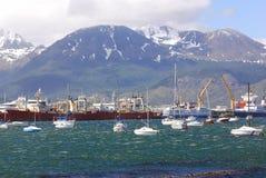 Puerto de Ushuaia Fotos de archivo