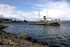 Puerto de Ushuaia, la Argentina Imágenes de archivo libres de regalías