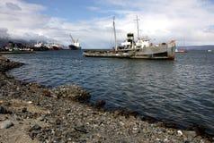Puerto de Ushuaia, la Argentina Fotografía de archivo