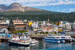 Puerto de Ushuaia, Tierra del Fuego. La Argentina Fotografía de archivo