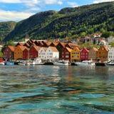 Puerto de Vagen en Bergen, Noruega Imagen de archivo