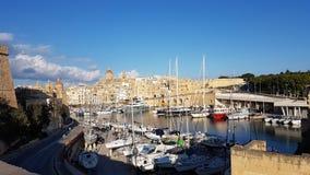 Puerto de Valleta Imagen de archivo libre de regalías