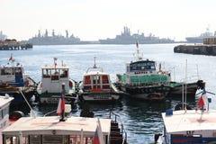 Puerto de ValparaÃso Fotografía de archivo libre de regalías