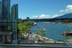 Puerto de Vancouver A.C. Canadá fotografía de archivo libre de regalías