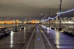 Puerto de Vancouver y céntrico Imagen de archivo