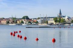 Puerto de Vastervik de la opinión de la ciudad fotografía de archivo libre de regalías