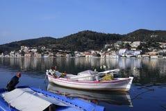 Puerto de Vathi en la isla de Ithaki Imagenes de archivo