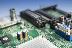 Puerto de VGA de la pizca del circuito electrónico Fotografía de archivo