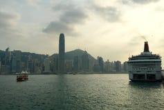 Puerto de Victoria de Hong-Kong Imagen de archivo