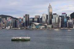 Puerto de Victoria en Hong-Kong imagenes de archivo