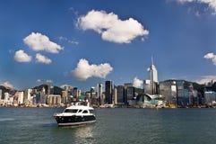 Puerto de Victoria en Hong-Kong Imágenes de archivo libres de regalías