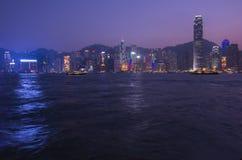 Puerto de Victoria en Hong Kong Imagen de archivo