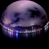 Puerto de Victoria en la noche Imágenes de archivo libres de regalías