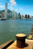 Puerto de Victoria, Hong-Kong Foto de archivo