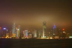 Puerto de Victoria, Hong-Kong Foto de archivo libre de regalías
