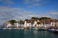 Puerto de Waymouth, Reino Unido. Foto de archivo