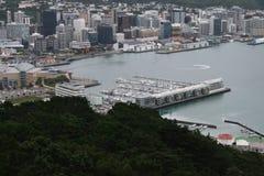 Puerto de Wellington en una opinión de ojo de pájaros Fotografía de archivo