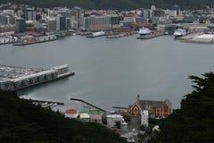 Puerto de Wellington en una opinión de ojo de pájaros Imagenes de archivo