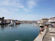 Puerto de Weymouth Foto de archivo libre de regalías