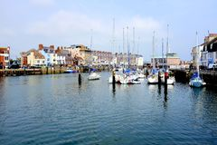 Puerto de Weymouth, Dorset, Reino Unido Imagen de archivo libre de regalías