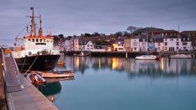 Puerto de Weymouth en Dorset. Foto de archivo