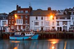 Puerto de Weymouth en Dorset Imagen de archivo libre de regalías