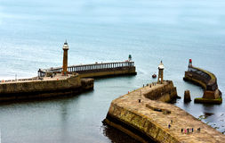 Puerto de Whitby fotografía de archivo