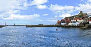 Puerto de Whitby en Whitby, North Yorkshire, Inglaterra Foto de archivo