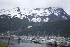 Puerto de Whittier Alaska Fotos de archivo