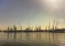 Puerto del anuncio publicitario de Montevideo Foto de archivo