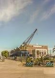 Puerto del anuncio publicitario de Montevideo Imagen de archivo