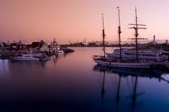 Puerto del arco iris de Long Beach Fotos de archivo libres de regalías