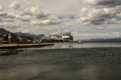 Puerto del barco de cruceros de Ushuaia Fotografía de archivo libre de regalías