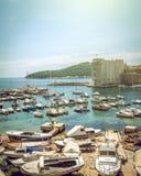 Puerto del barco de Dubrovnik Imagenes de archivo