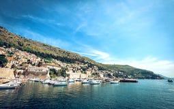 Puerto del barco de Dubrovnik Foto de archivo