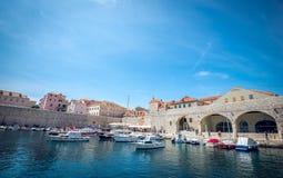 Puerto del barco de Dubrovnik Imagen de archivo
