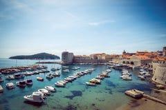 Puerto del barco de Dubrovnik Fotografía de archivo