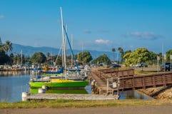 Puerto del barco de Haleiwa Foto de archivo