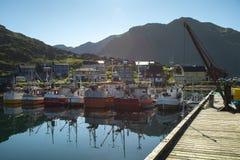 Puerto del barco de pesca fotografía de archivo