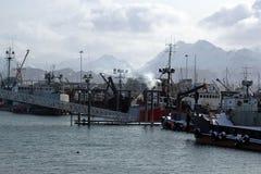 Puerto del barco del home run foto de archivo libre de regalías