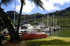 Puerto del barco en la bahía de Kalapaki Imagen de archivo libre de regalías