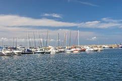 Puerto del bote pequeño Fotos de archivo libres de regalías
