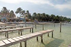 Puerto del calafate de Caye imagen de archivo libre de regalías