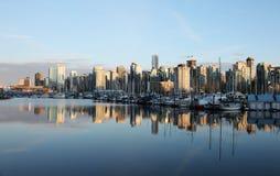 Puerto del carbón, Vancouver en la puesta del sol Imagenes de archivo